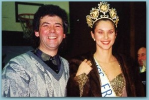 Pascal et Miss France 1994 . Valérie Claisse